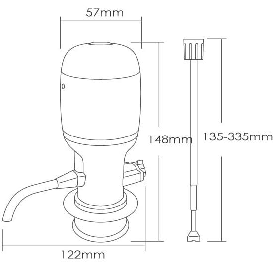 CL01 Vinaera Pro Adjustable Electric Wine Aerator (MV7)