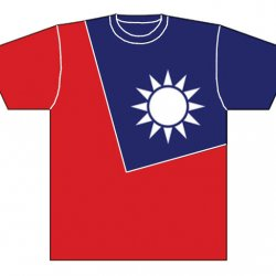 DT03 Taiwan National Flag T-shirt (L)