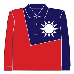 DT13 Taiwan National Flag Polo (L)
