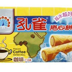 KO01 Peacock Waffer Roll Coffee Flavor