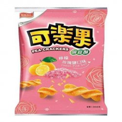 LH09 Koloko Pea Crackers 72g Lemon Pink Salt