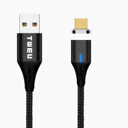 MP02 Magnetic Charging Cable Micro USB Black 1M