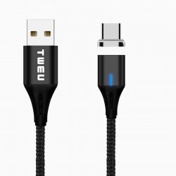 MP03 Magnetic Charging Cable USB-C Black 1M