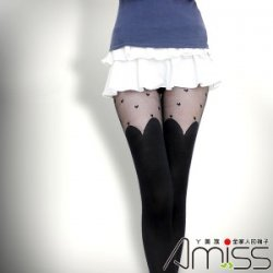 YL0404-93 Heart Slim Boot Tights