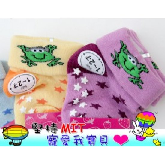 YL2407-1-36 Cute anti-slip children socks (3-6 years)