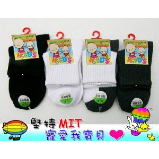 YL2409-3M Advanced 1/2 Children Socks (18 ~ 21cm,B+W)
